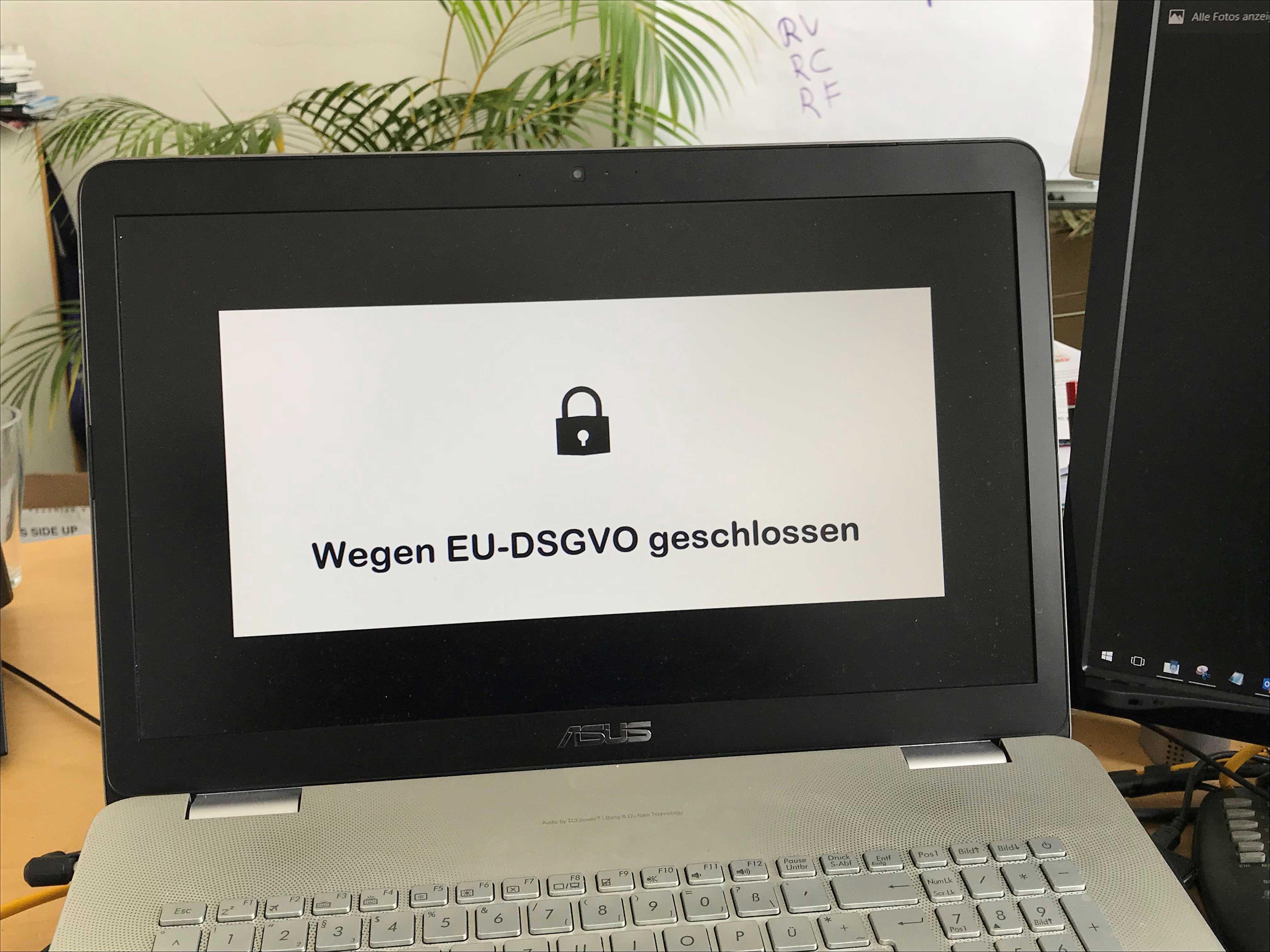 EU-DSGVO geschlossen EU-GDPR closed
